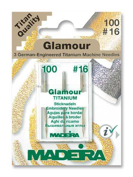 Madeira Glamour Titanium Sticknadeln 3er Pack