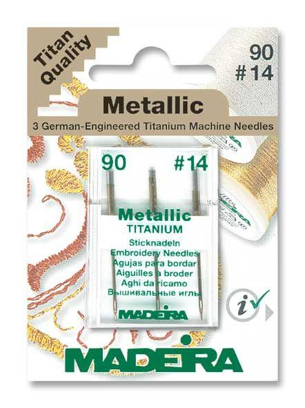 Madeira Metallic Titanium Sticknadeln 3er Pack