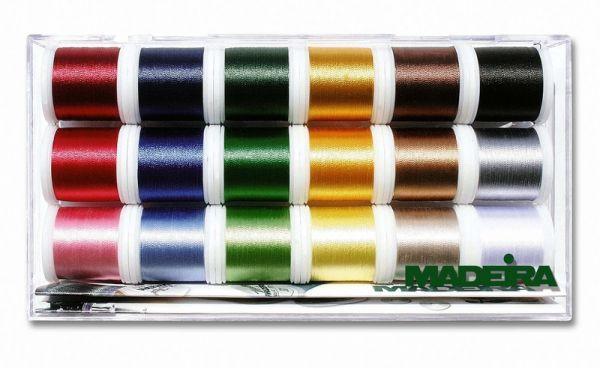 Madeira Stickbox Rayon - 18 Rollen à 200 m