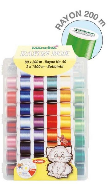 Madeira Rayon Box - 80 Rollen à 200 m