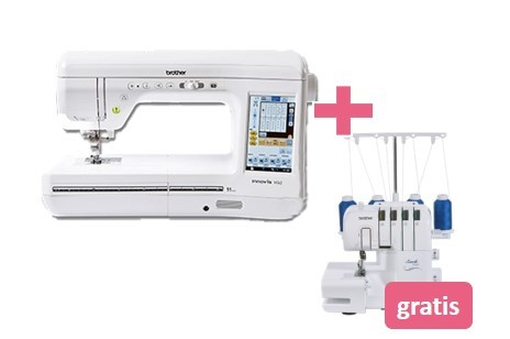 Brother Innov-Is VQ2 + gratis Brother Overlock 2104D
