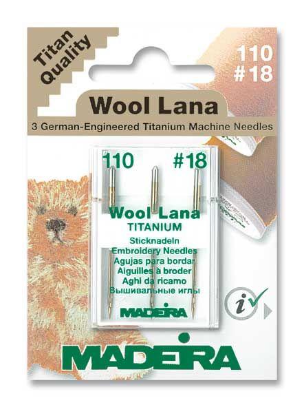 Madeira Wool Lana Titanium Sticknadeln 3er Pack