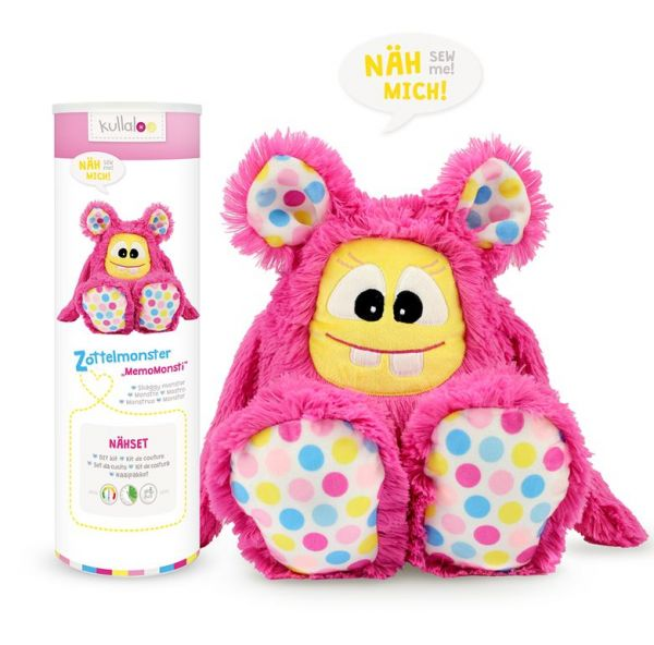 Nähset Zottelmonster MemoMonsti pink 1