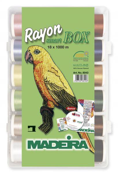 Madeira Stickbox Rayon - 18 Rollen à 1000 m