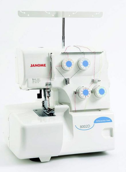 Janome 8002 D weiß mit Differentialtransport