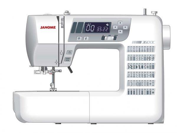 Janome Decor Computer 360 inkl. großen Anschiebetisch und Harthaube gratis