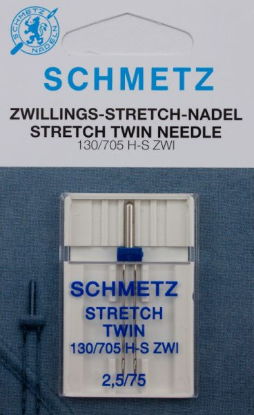 Schmetz Zwillings-Stretch-Nadel 1er Pack (2,5 mm/75)